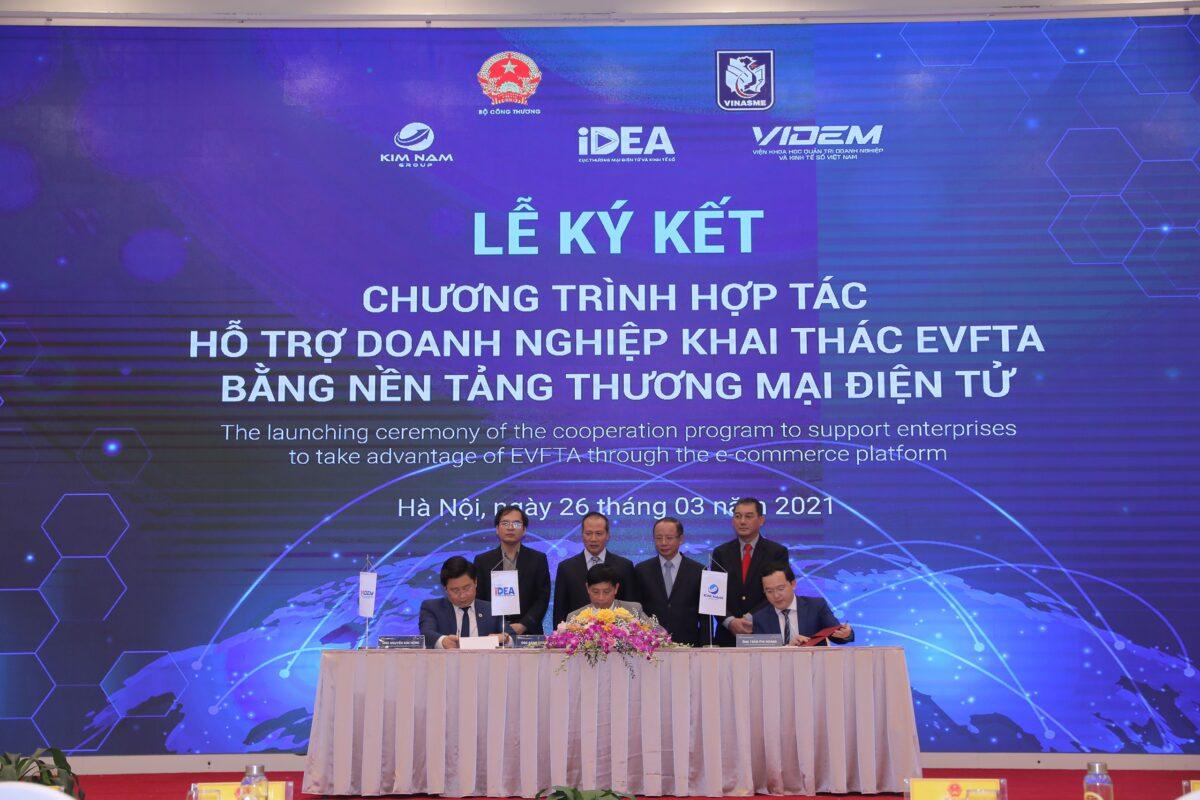 Ra mắt Chương trình hợp tác hỗ trợ doanh nghiệp khai thác Hiệp định EVFTA bằng nền tảng thương mại điện tử